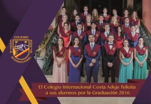 Graduación 2016 - Colegio Internacional Costa Adeje